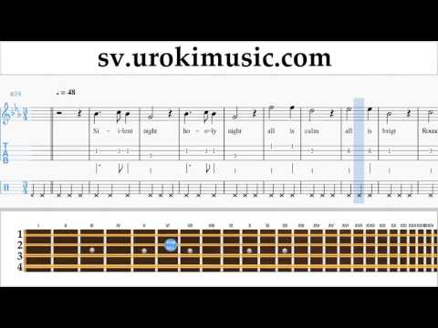 Lär Dig Spela Mandolin Silent Night Tabs Nybörjare Del 2 Um-b492