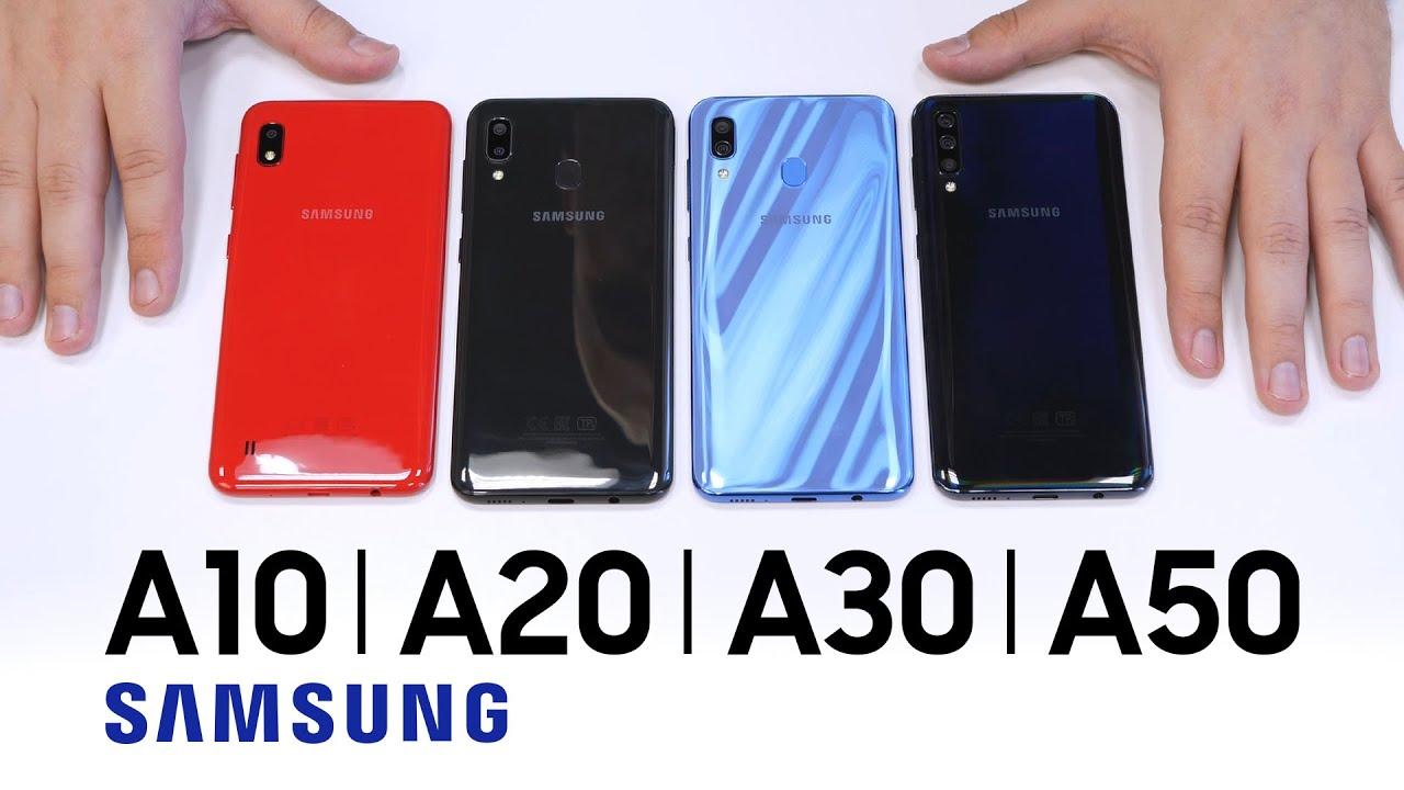 Купил Galaxy A10 вместо Galaxy A40. Распаковка, обзор и сравнение с Samsung Galaxy A20, A30, A50