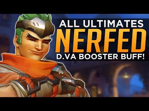 Overwatch: ALL Ultimates NERFED! - D.Va Boosters BUFF!