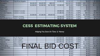 CESS Estimating System Acc Numbers #4 - Construction Entrepreneurs