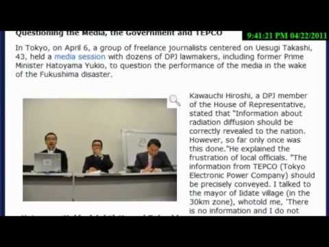 "Fukushima Revisited: TEPCO Censoring ""Illegal Information"" leaked on Internet FUKUSHIMA (April 2011)"