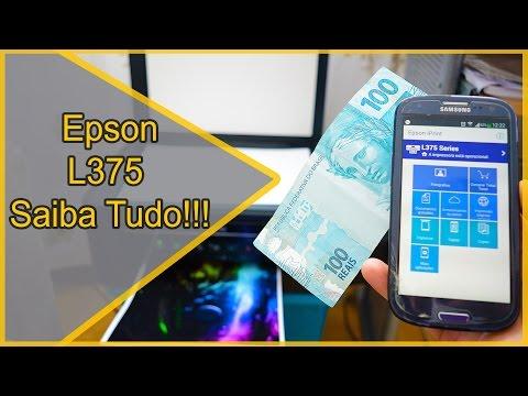 Impressora Epson EcoTank L375 Wi Fi Unboxing 2016 Guia de instalação review Parte 3