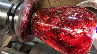 Woodturning -  A Christmas Tinsel Vase Using Xmas Tinsel