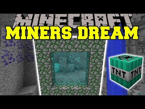 Minecraft: MINERS DREAM (DIMENSION WITH TONS OF ORES ITEMS & MORE!!) Mod Showcase