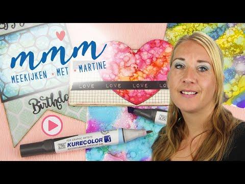 Meekijken Met Martine - Magische achtergronden met Alcohol markers en Yupo papier
