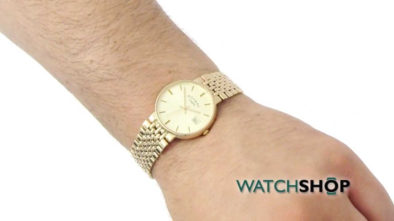 Men's Rotary 9ct Gold Watch