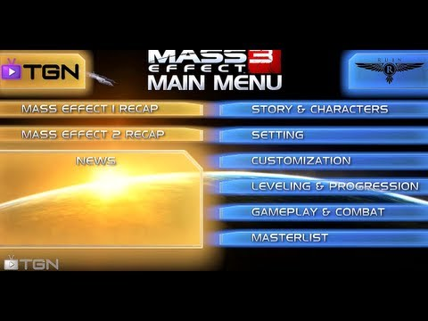 ★ Mass Effect 3 - Interactive Menu - What We Know So Far! - WAY➚