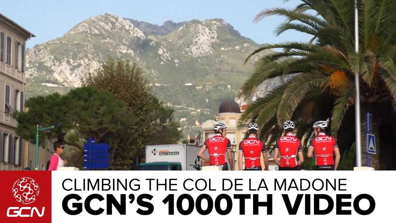 Climbing The Col De La Madone - GCN's 1000th Video