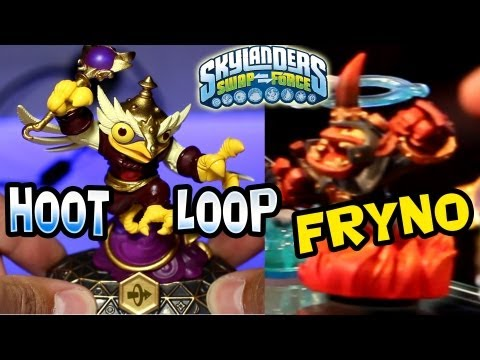 HootLoop + Fryno - New Fire & Magic Skylanders for SwapForce