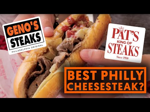 FUNG BROS FOOD: Best Philly Cheesesteak In The World? (Pat's VS Geno's)