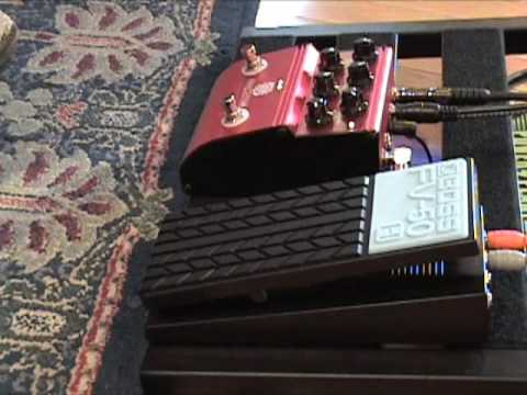 Analogman ARDX20 dual Analog Delay pedal with Boss Expression pedal Les Paul & Blues Jr amp