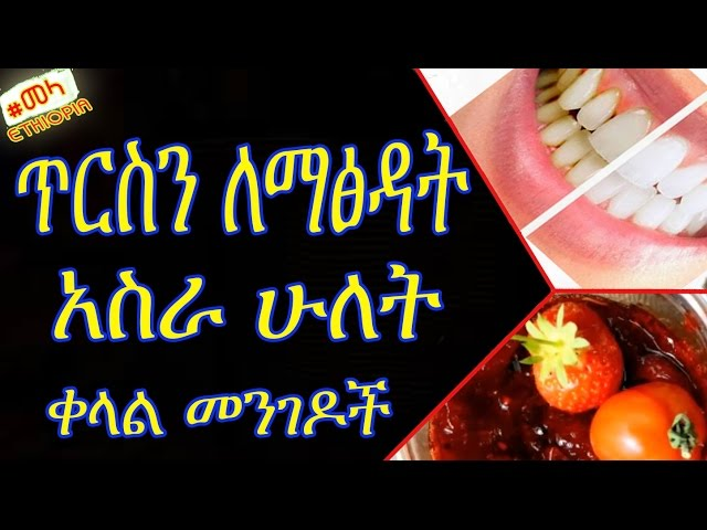 ETHIOPIA - 12 Ways to Keep Teeth Clean in Amharic