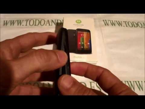 Moto G . quitar tapa trasera para acceder al Slot Micro Sim