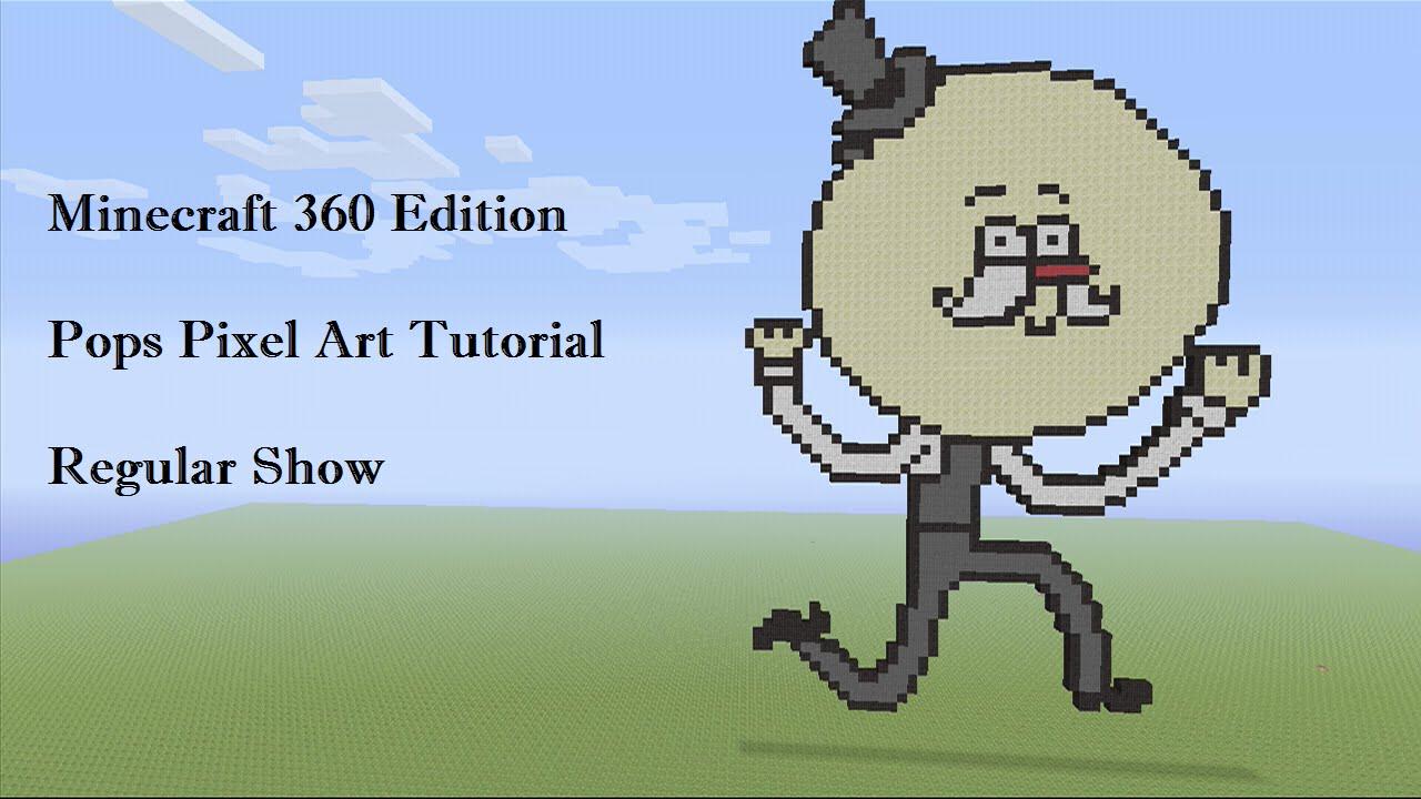 Minecraft Pops (Regular Show) Pixel Art Tutorial - YouTube  Minecraft