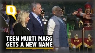 PM Modi, Israel PM Benjamin Netanyahu Arrive for Teen Murti Chowk Event | The Quint