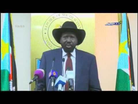President Salva Kiir press conference المؤتمر الصحفى لسفاكير رئيس جنوب السودان
