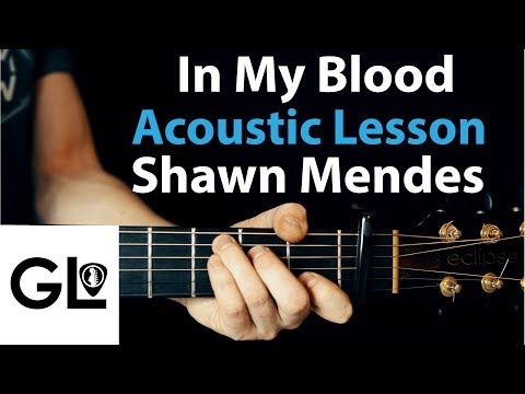 Shawn Mendes - In My Blood: Acoustic Guitar Lesson/Tutorial 🎸How To Play Chords/Rhythms