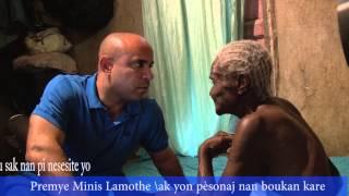 VIDEO: Haiti - Premier Minis Laurent Lamothe vizite lakay yon ti granmoun nan Boukan Kare