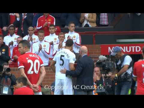 Live From Old Trafford Man United vs QPR Rio Ferdinand gets a Special Thanks