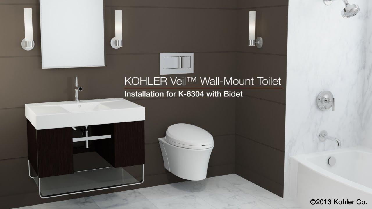 Installation Veil Toilet With Bidet Seat Youtube