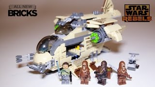 Lego Star Wars Rebels 75084 Wookiee Gunship Speed Build Review
