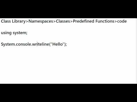 .net Framework - Base Class Library - Dot Net Video Tutorials In Telugu - Part 6 video