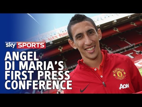 Angel di Maria's first press conference as a Manchester United player