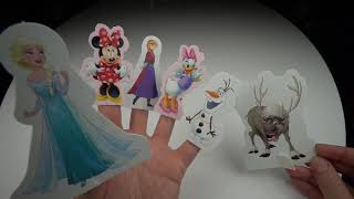 Learn the Names of Finger with Elsa, Anna, Mini, Daisy, Olaf and Sven
