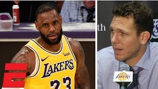 Luke Walton sounds off on refs, Lakers' fight despite 0-3 start   NBA Interview
