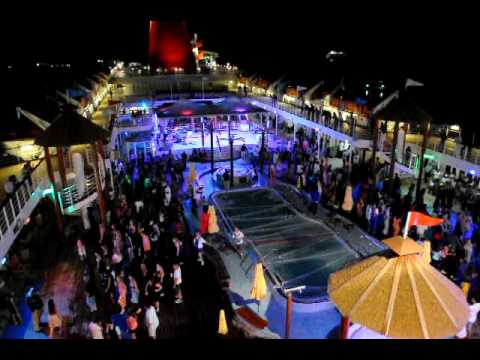 Carnival Imagination Deck Party Youtube