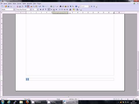 Jak ponumerować strony w programie Openoffice