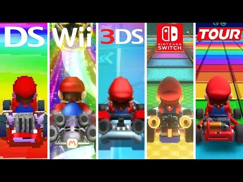Evolution of Rainbow Road (1992-2019)