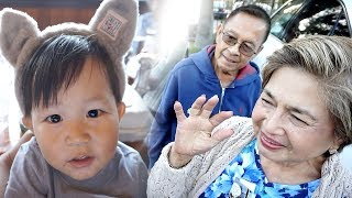JULIAN MEETS HIS GRANDPARENTS (LOLA + LOLO) FOR THE FIRST TIME!  | Mel and Shane
