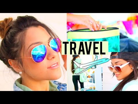 Travel Ready! Easy + Cute Hairstyles, Quick Make-up Looks, 2 Outfit ideas + How we Pack!