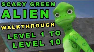 Scary Green Grandpa Alien - Full Walkthrough - Level 1 To Level 10