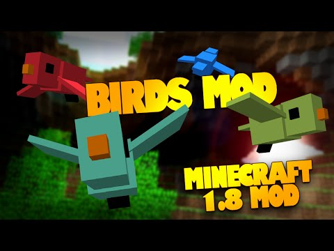 Minecraft Mods   Birds Mod (First Minecraft 1.8 Mod!?)   Birds in Minecraft (Mod Showcase)