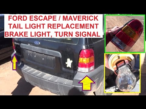 Ford Escape Mercury Mariner Tail Light Replacement  Tail Light. Brake Light. Rear Turn Signal light