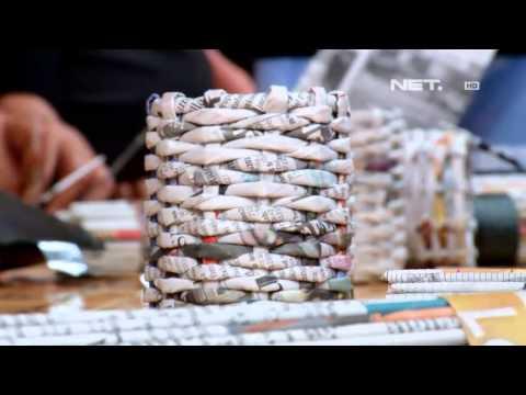 NET12 - Kreasi Unik RANCAGE dari Sampah Koran