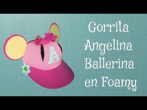Gorro Angelina Ballerina en Foami, Goma Eva, Microporoso