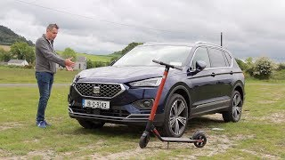 SEAT Tarraco in depth   budget luxury SUV with an Electic scooter