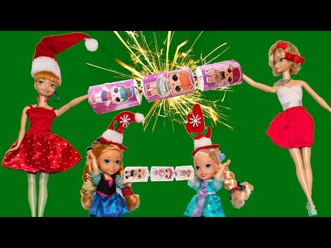 Elsa and Anna toddlers- Christmas crackers!