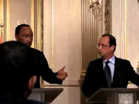 Mahamadou ISSOUFOU Et Francois HOLLANDE À L'Elysée