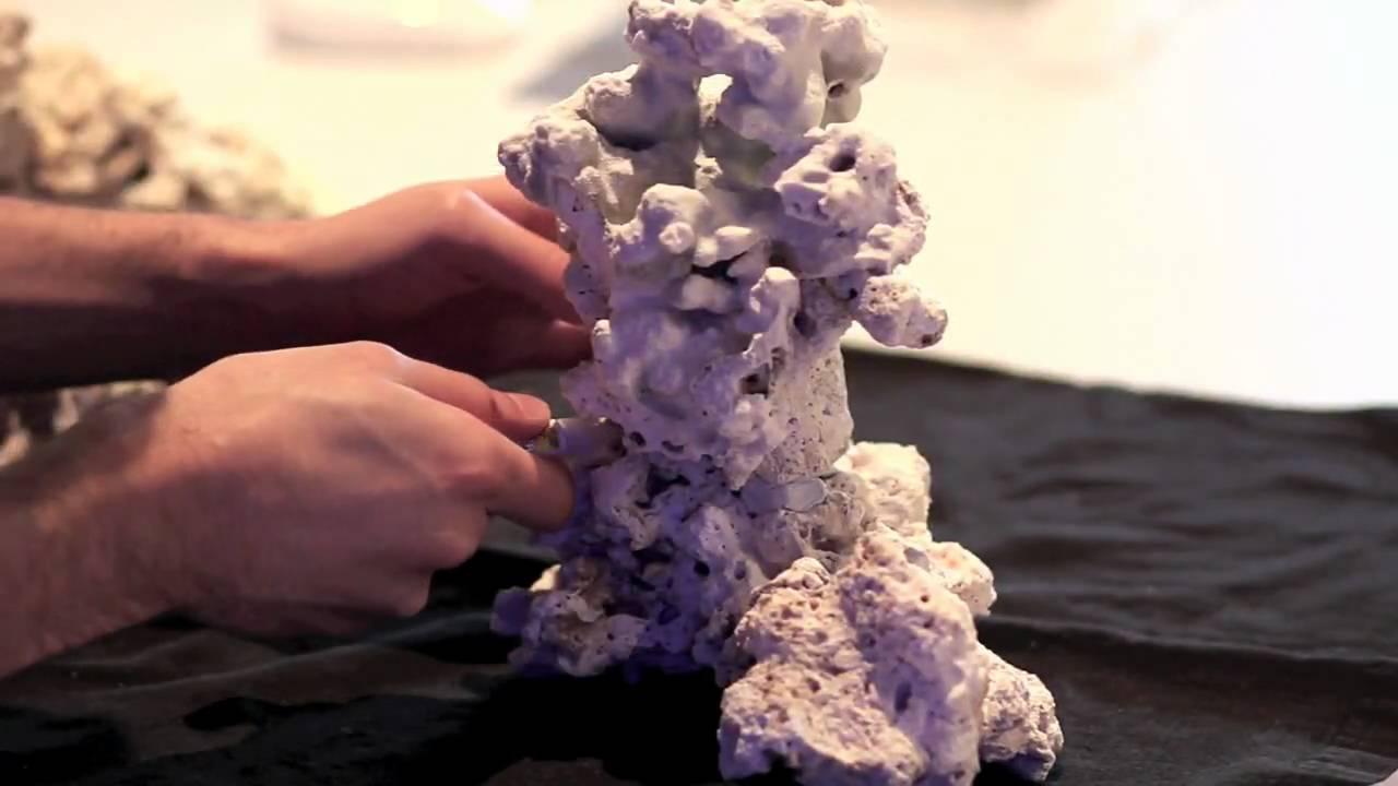Pillar Aquascape In Reef Aquarium Youtube