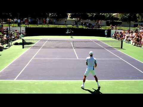 Novak Djokovic Practice 2013 BNP Paribas Open Indian Wells