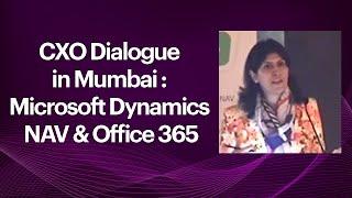 CXO Dialogue in Mumbai   Microsoft