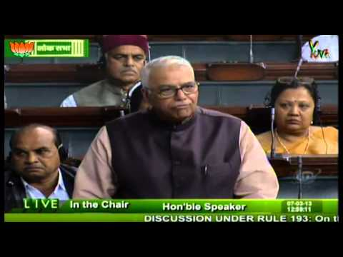 Loksabha : Shri Yashwant Sinha speech on the plights of Tamil in Sri Lanka : 07.03.2013