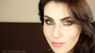 Gold & Bronze Smokey Eye with Nude Lips Makeup Tutorial.