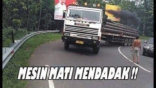 Truck Trailer SCANIA Tidak Kuat Nanjak, Mesin Mendadak M4ti di Tikungan Timez, SKIL SOPIR TRUK JOSSS