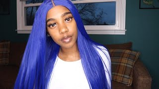 Royal Blue Synthetic Wig ft. JUMWIGS