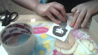 Как сделать наклейку из скотча и бумаги